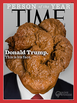 Donald Trump as Person of the Year. Photo courtesy of Time.