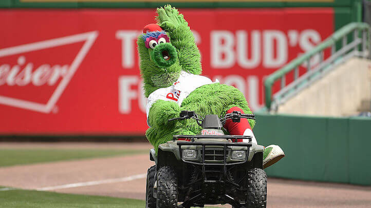 The Phanatic galavanting about its terrain, moments before its tragic demise (Getty)