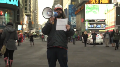 judah friedlander times square