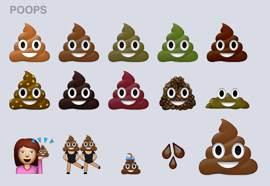 Different Colored Poops
