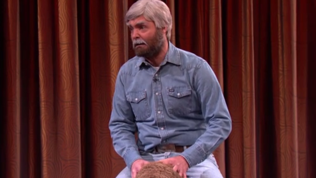 Watch Angry Ted Turner (Will Forte) Shame Conan O'Brien Atop A Buffalo