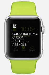 apple watch cheap rich asshole
