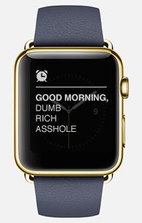 apple watch dumb rich asshole