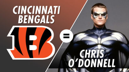 The Cincinnati Bengals are Chris O'Donnell, With Christian Finnegan