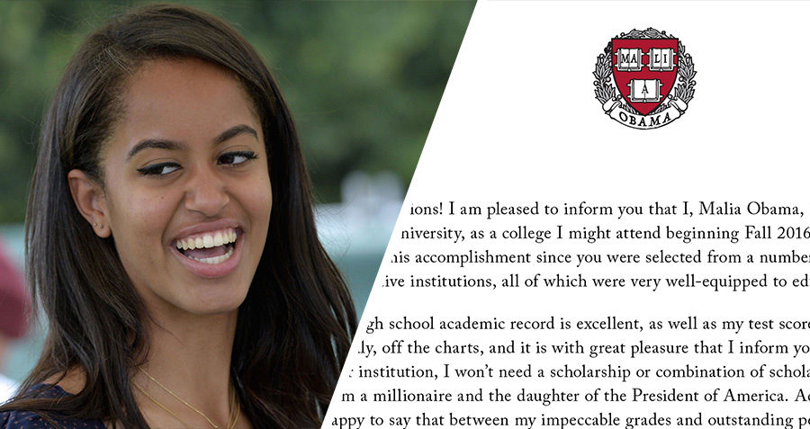 Malia obama sends acceptance letter to harvard thecheapjerseys Image collections