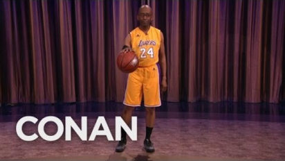 Kobe Has Retired, And So Has Conan's Kobe Impersonator