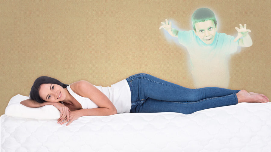 my casper bed is a normal mattress with a child ghost inside
