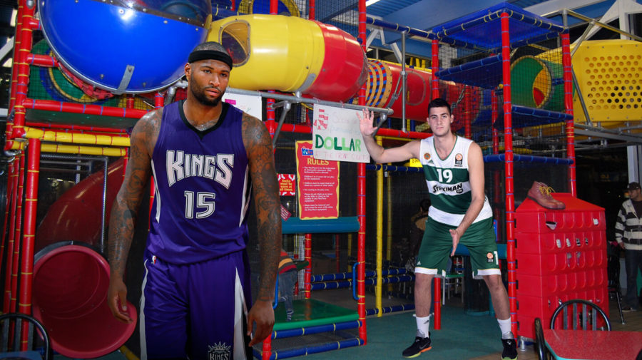 Kings Set Up DeMarcus Cousins And Georgios Papagiannis On Playdate