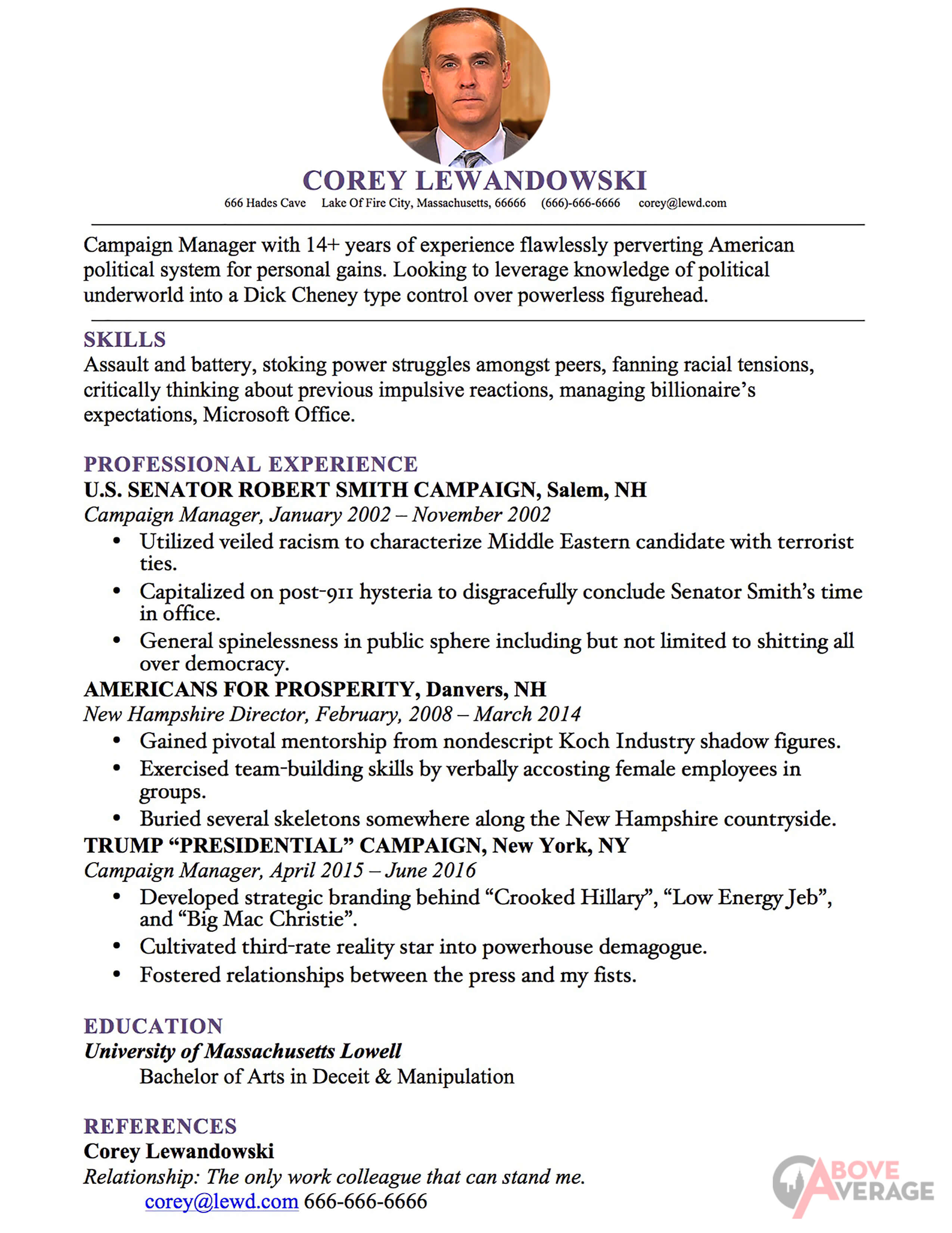 Corey 3 Copy  Campaign Manager Resume