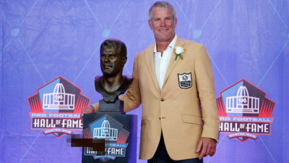 Uh Oh: Is Brett Favre's HOF Bust Showing His Dick?
