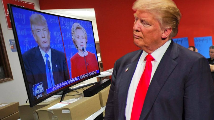 Focused Trump Watches Debate Tape To Find More Times To Interrupt