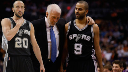Popovich, Parker, Manu Spend Whole Timeout Reminiscing About Old Days