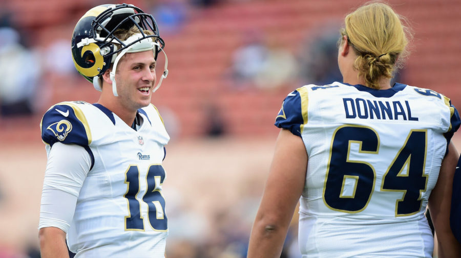 Rams don t have the heart to tell jared goff they lost the for Goff pictures