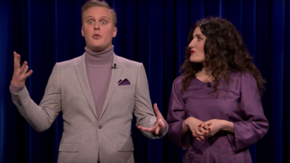 John Early & Kate Berlant Took In Their Moment On 'Fallon' Too Long; Resort to Panic-Dance