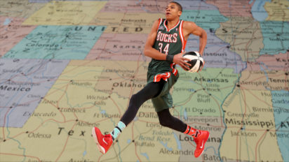 Road Trip! Giannis Antetokounmpo Travels Cross-Country In Three Steps