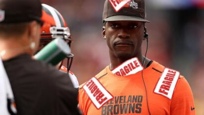 "Browns Place ""Fragile, Handle With Care"" Tag On Robert Griffin III"