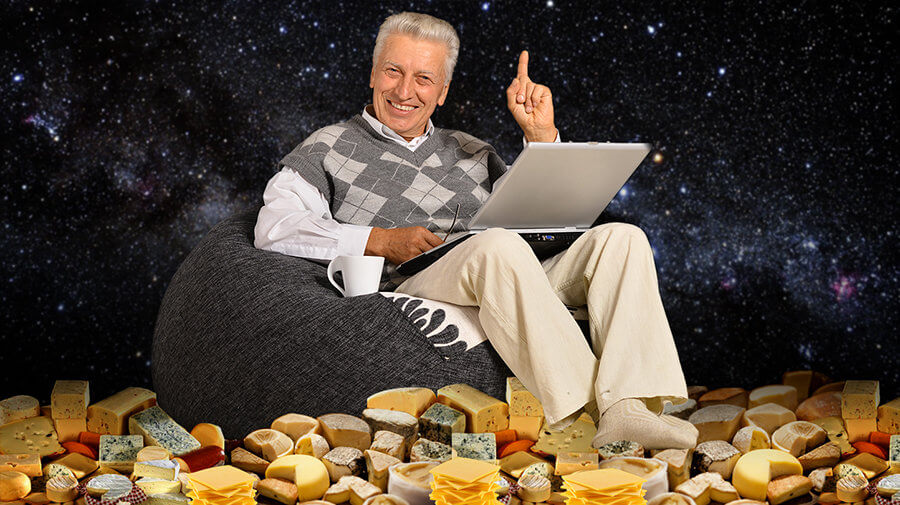 I'm Practicing Living On The Moon By Carpeting My Home In Cheeses