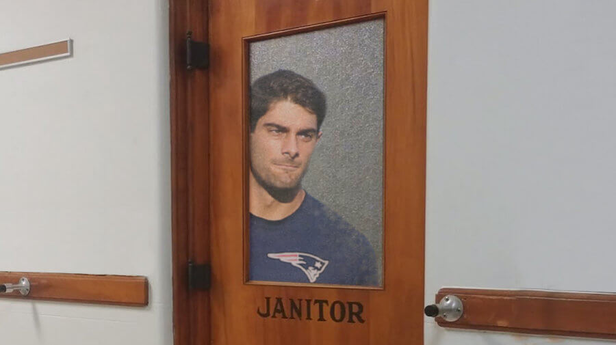 Garoppolo Nervously Hides In Janitoru0027s Closet As Browns Scouts Slowly Walk  By