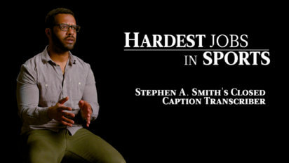Stephen A. Smith's Closed Caption Transcriber | Hardest Jobs in Sports