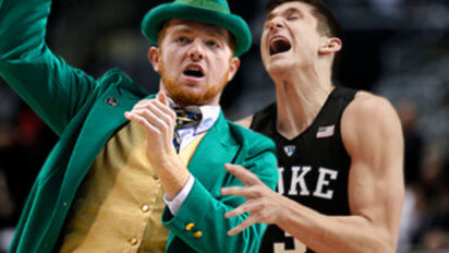 Grayson Allen Beats Up Notre Dame Mascot Until He Shows Him Where Gold Is