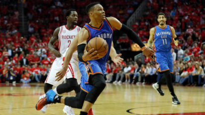 Wow: Westbrook Records Triple-Double Midway Through First Possession