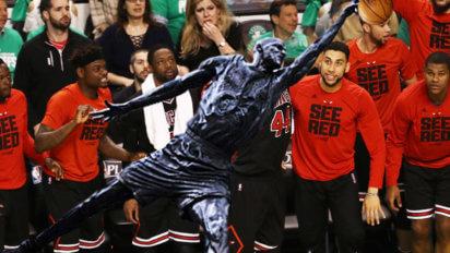 "Bulls Add Jordan Statue To Lineup Because ""Desperate Times, Dude"""