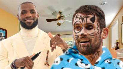 Slumber Party! Cavs Draw On Kevin Love's Face While He's Still Awake