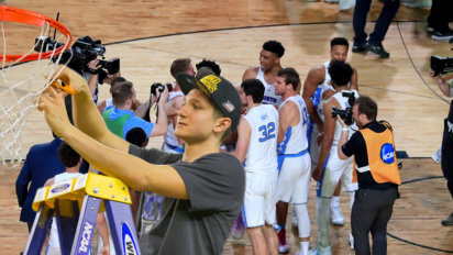 Sad: Grayson Allen Cuts Down Nets While UNC Players Have Backs Turned