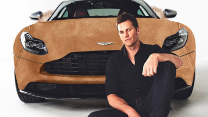 Tom Brady Gets Tricked Out Aston Martin Covered In Ugg