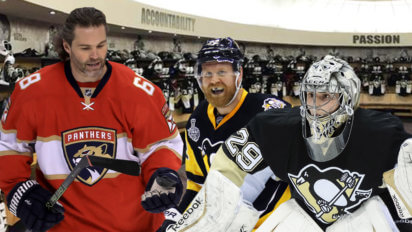 Jagr Visits Penguins To Share Stories From First Stanley Cup Finals
