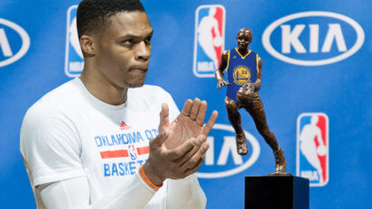Tragic: Westbrook's MVP Trophy Opts Out And Joins Warriors