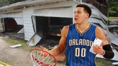 #DriveByDunkChallenge: Aaron Gordon Ruins A Family's Garage