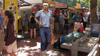Portland Bound? Melo Buys Lensless Glasses, Suspenders, And Hiking Boots