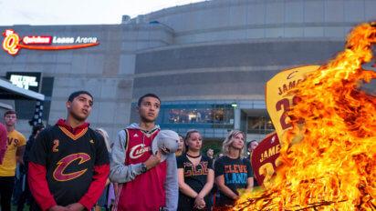 Cavs Fans Stockpile Lighter Fluid To Prep For LeBron Leaving Again