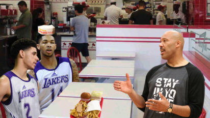 Classic Dad: LaVar Brings Lakers To In N' Out After Summer League Win
