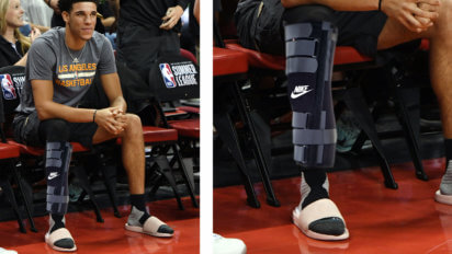 Meaningful? Lonzo Sits Out Final Summer League Game In Nike Leg Brace
