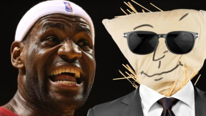 LeBron Makes His Own GM Out Of Pillowcases And Straw To Yell At