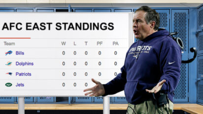 Belichick Screams At Patriots For Being Tied With Jets In Standings