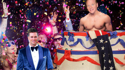 Wow! Patriots Get Goodell To Pop Out Of Brady's Birthday Cake