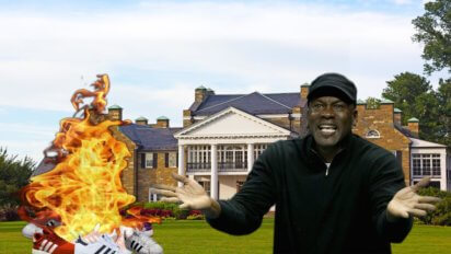 Weird: Stench Of Burning Adidas Coming From Michael Jordan's Mansion