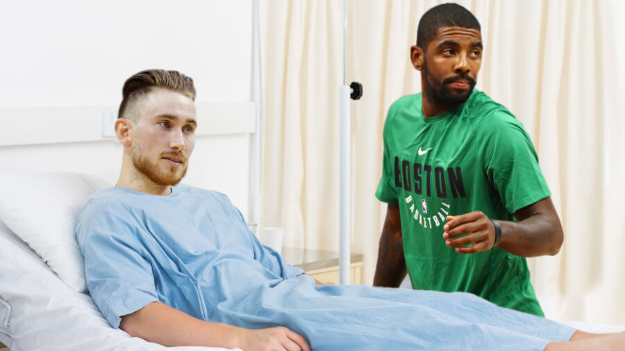 Kyrie Visits Hayward In Hospital To Tell Him Why Cleveland Sucks
